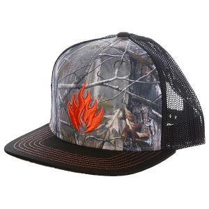 Бейсболка с сеткой  Hunter Trucker Hat Black Label. Цвет: черный,серый