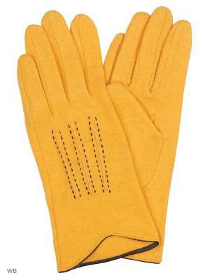 Перчатки Palantini. Цвет: желтый