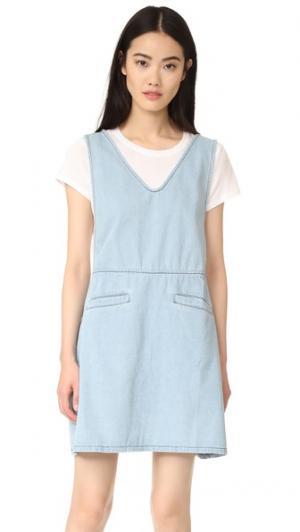 Платье из денима Hudson Ryder. Цвет: синяя композиция