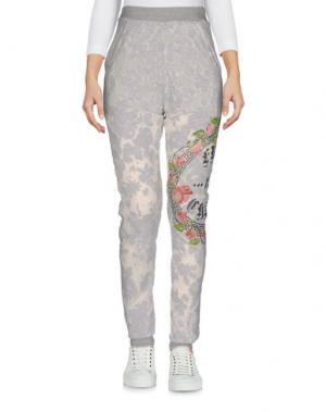 Повседневные брюки HAPPINESS. Цвет: серый