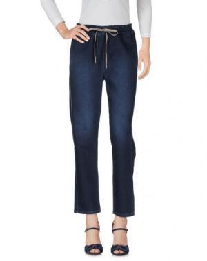 Джинсовые брюки ZHELDA. Цвет: синий