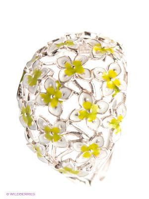 Кольцо Lovely Jewelry. Цвет: серебристый, зеленый