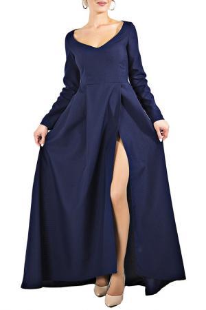 Платье JULIET ROSES. Цвет: темно-синий