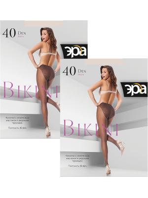 Колготки Bikini 20, 2 пары ЭРА.. Цвет: бежевый