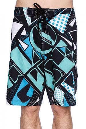 Пляжные мужские шорты  Fire Cracker Boardie Black Globe. Цвет: зеленый,черный