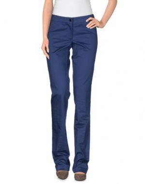 Повседневные брюки LIST. Цвет: синий