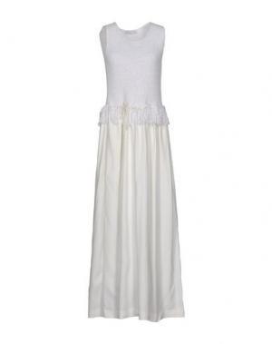 Длинное платье FABIANA FILIPPI. Цвет: белый