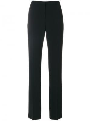 Строгие брюки слим Mantu. Цвет: чёрный