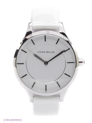 Часы KAREN MILLEN. Цвет: серебристый, белый