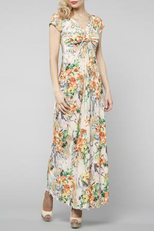Платье Kata Binska. Цвет: бежевый, мульти