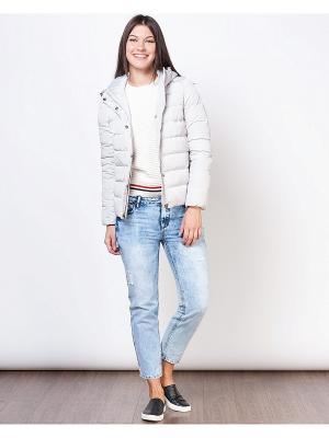 Куртка INCITY. Цвет: светло-серый