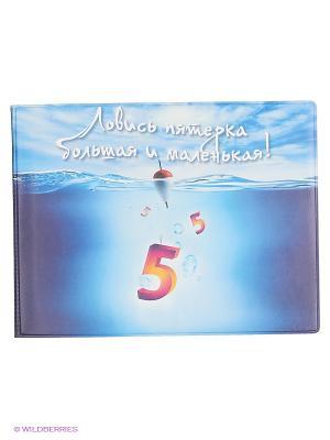 Обложка на зачетную книжку Ловись пятерка Kawaii Factory. Цвет: голубой