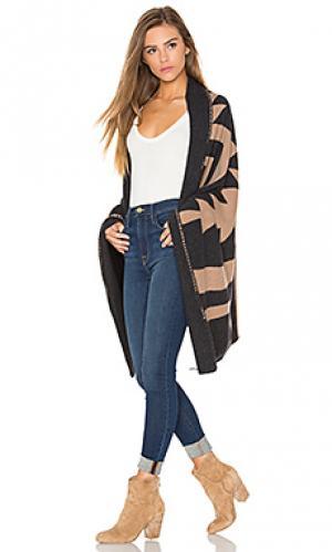 Пончо india 360 Sweater. Цвет: коричневый