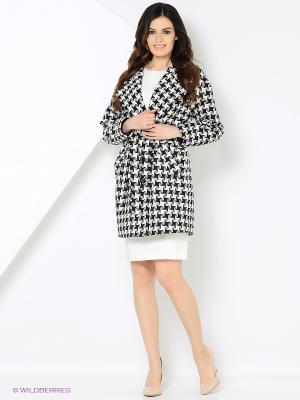 Пальто MARI VERA. Цвет: черный, белый