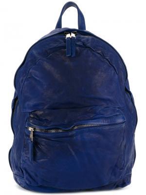 Рюкзак с потертой отделкой Giorgio Brato. Цвет: синий