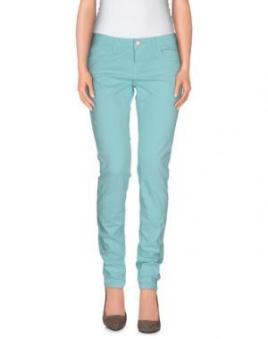 Повседневные брюки RE-HASH. Цвет: бирюзовый