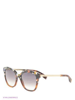 Солнцезащитные очки FENDI. Цвет: коричневый, рыжий