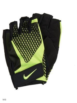 Мужские перчатки для зала Nike. Цвет: черный, желтый