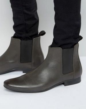 Frank Wright Серые кожаные ботинки челси. Цвет: серый