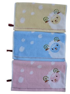 Набор полотенец A and C Collection. Цвет: голубой, желтый, розовый
