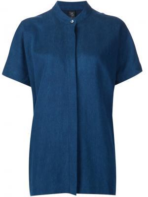 Рубашка с короткими рукавами Zero + Maria Cornejo. Цвет: синий