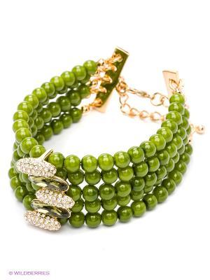 Браслет Bijoux Land. Цвет: зеленый