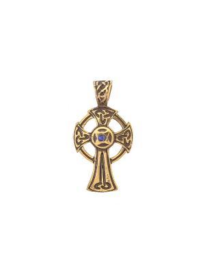 Амулет защитный Жреческий крест Aztek. Цвет: желтый