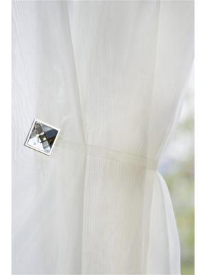 Магнитная клипса с лентой (26 см) Квадро Люкс Кристалл хром матовый IZKOMODA. Цвет: серебристый