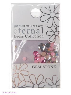Стразы-камушки для ногтей Белый Премиум  Микс ETERNAL Dress Collection Gem Stone Primа Mix PA presents since 2004. Цвет: розовый