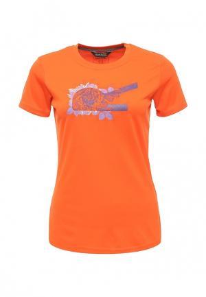Футболка спортивная Regatta. Цвет: оранжевый