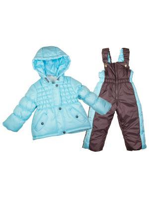 Зимний комплект babyAngel. Цвет: бирюзовый, темно-коричневый