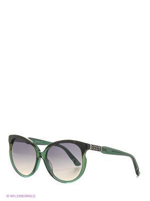 Солнцезащитные очки SK 0081 96P Swarovski. Цвет: зеленый, коричневый