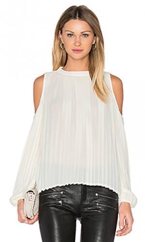 Блуза с плиссировкой BLAQUE LABEL. Цвет: кремовый