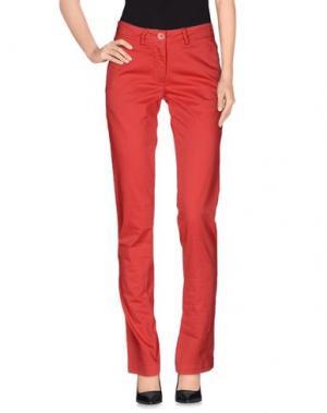 Повседневные брюки VERYSIMPLE. Цвет: коралловый