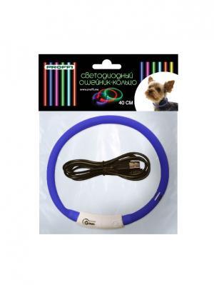 Светодиодный ошейник-кольцо 40 см PROFFI. Цвет: синий