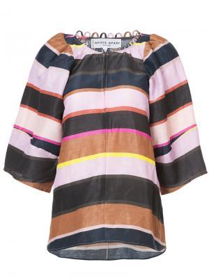 Полосатая блузка Apiece Apart. Цвет: многоцветный
