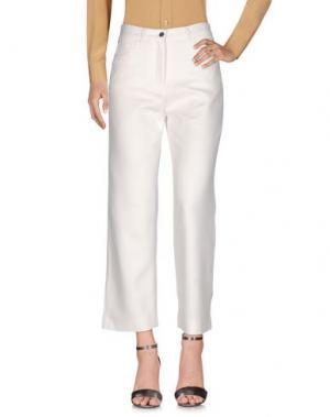 Повседневные брюки WOOD. Цвет: белый