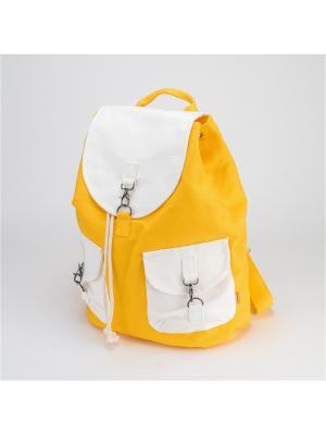 Городской рюкзак TIMBAG. Цвет: желтый, белый