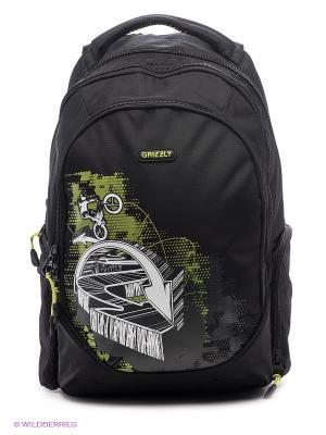 Рюкзак Grizzly. Цвет: черный, зеленый, серый