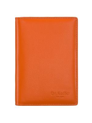 Обложка для автодокументов Dr. Koffer. Цвет: оранжевый
