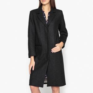 Пальто шерстяное VELINI HARTFORD. Цвет: антрацит