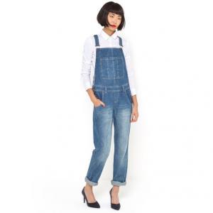 Комбинезон джинсовый, 100% хлопка R essentiel. Цвет: синий потертый