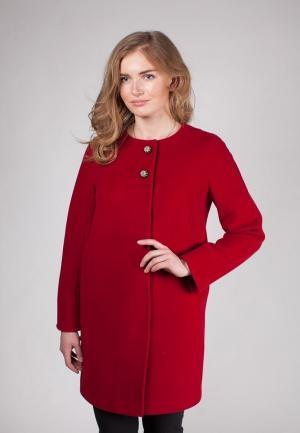 Пальто SHARTREZ. Цвет: бордовый