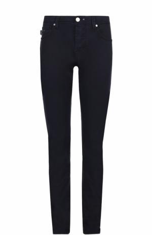 Хлопковые брюки прямого кроя Sartoria Tramarossa. Цвет: темно-синий