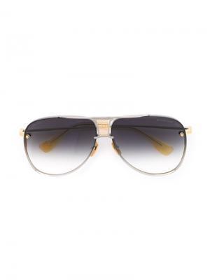 Солнцезащитные очки Decade Two Dita Eyewear. Цвет: металлический