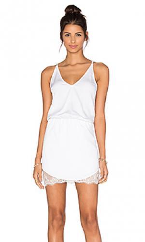 Мини платье juani Karina Grimaldi. Цвет: белый
