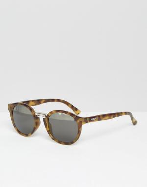 Mr Boho Круглые солнцезащитные очки в черепаховой оправе с двухцветными стекла. Цвет: коричневый