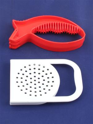 Универсальная точилка и крышка для слива с ручкой Радужки. Цвет: красный, белый