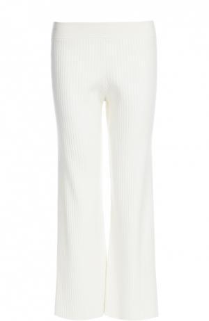 Вязаные брюки Theory. Цвет: белый