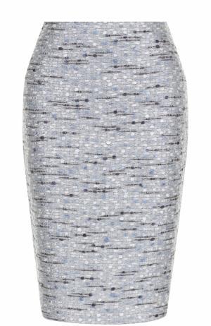 Буклированная юбка-карандаш St. John. Цвет: голубой